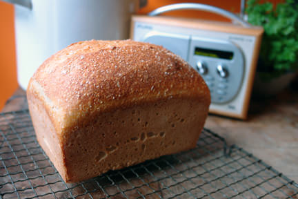 loaf of home-baked real bread on a cooling rack | H is for Home
