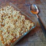 Cakes & Bakes: Rhubarb, apple & cardamom crumble