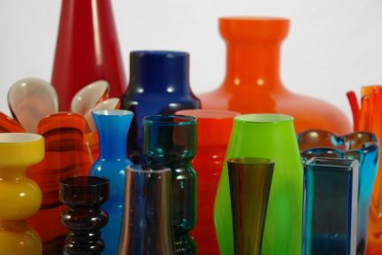 Collection of vintage art glass vases | H is for Home