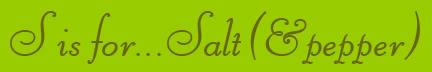 'S is for... Salt' blog post banner