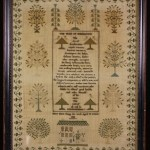 Wednesday Wish: Antique Victorian sampler