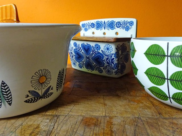 Trio of Scandinavian pottery items: Egersund, Rorstrand and Gustavsberg | H is for Home