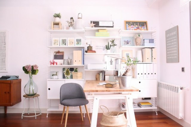 Shop owner's home office