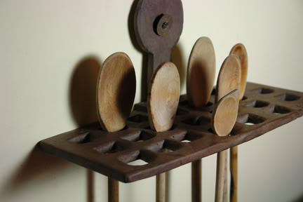 antique wooden spoon holder | H is for Home