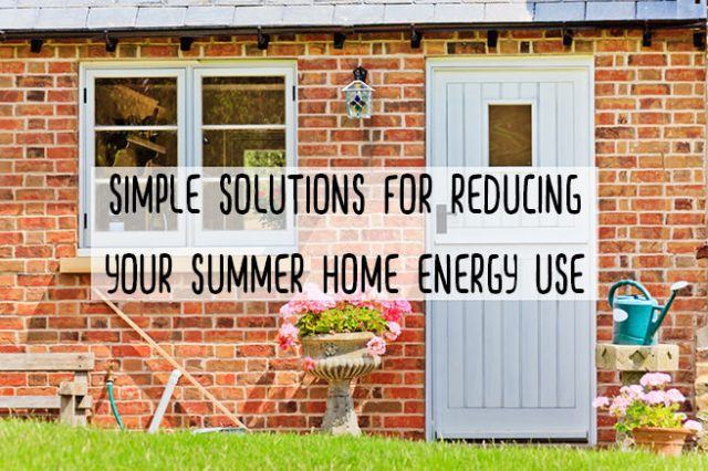 Simple solutions for reducing your summer home energy use