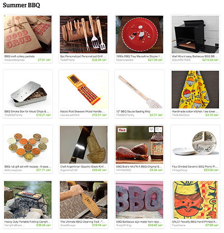 'Summer BBQ' Etsy list