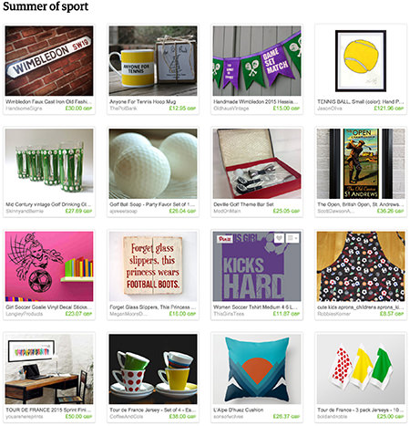 'Summer of sport' Etsy List curated by H is for Home