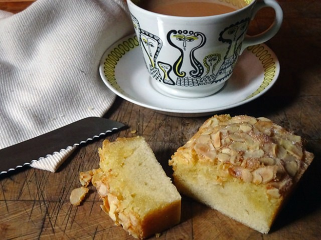 Slice of home-made Swedish almond cake | H is for Home