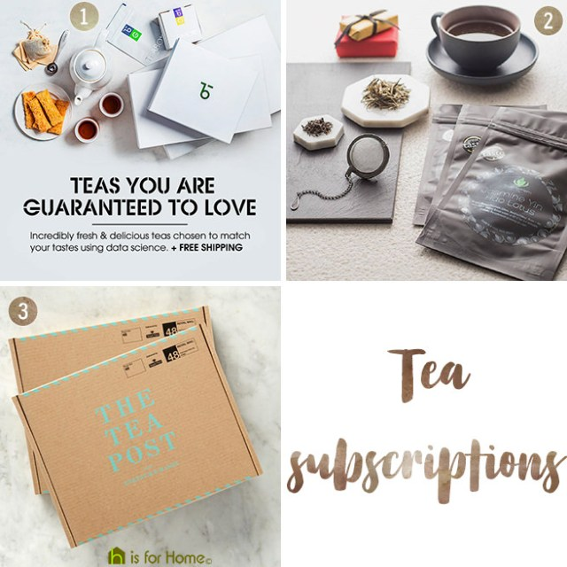 Tea subscriptions | H is for Home
