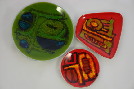 Trio of Poole Pottery plates & dishes designed by Carol Cutler | H is for Home