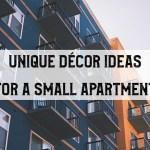 Unique décor ideas for a small apartment