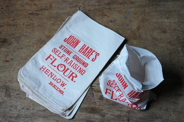 vintage flour bags for John Hare's self-raising flour   H is for Home