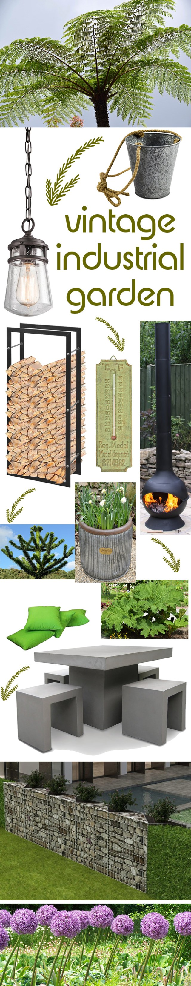 Vintage industrial garden mood board in collaboration with Wayfair | H is for Home