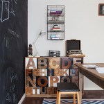 Get their look: vintage industrial work room