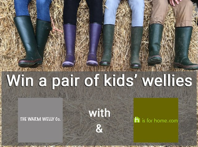 Win a pair of Warm Welly Co. kids' wellies | H is for Home