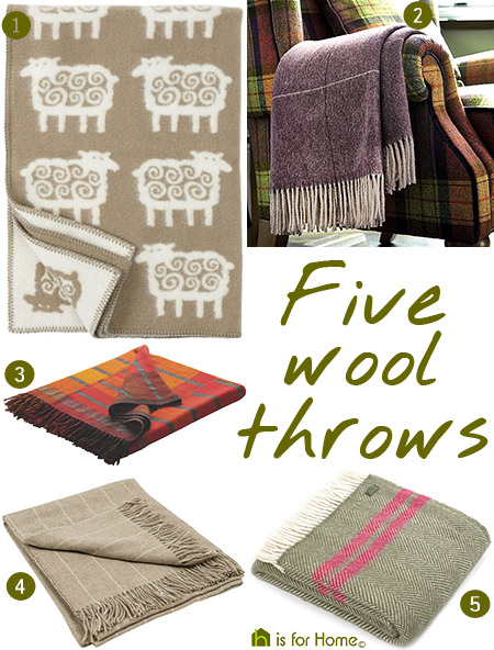 Selection of wool throws | @hisforhome