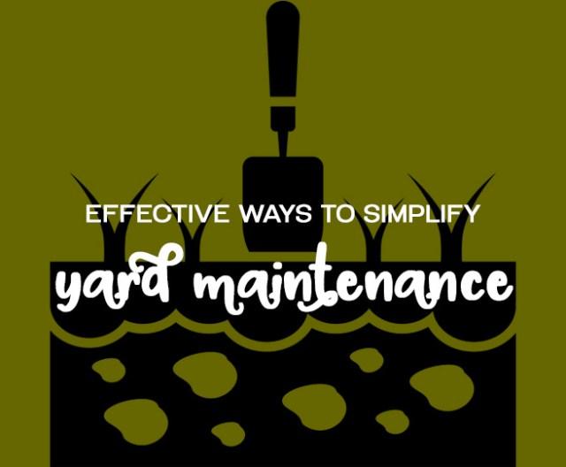 Effective ways to simplify yard maintenance