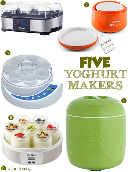 selection of 5 yoghurt makers