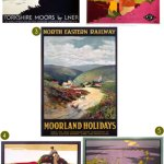 Gimme Five! Vintage Yorkshire Moors posters