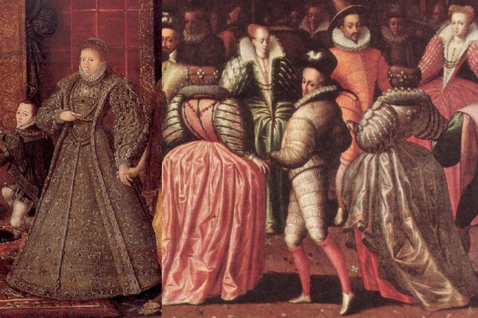 1580-1600年の西ヨーロッパの女...