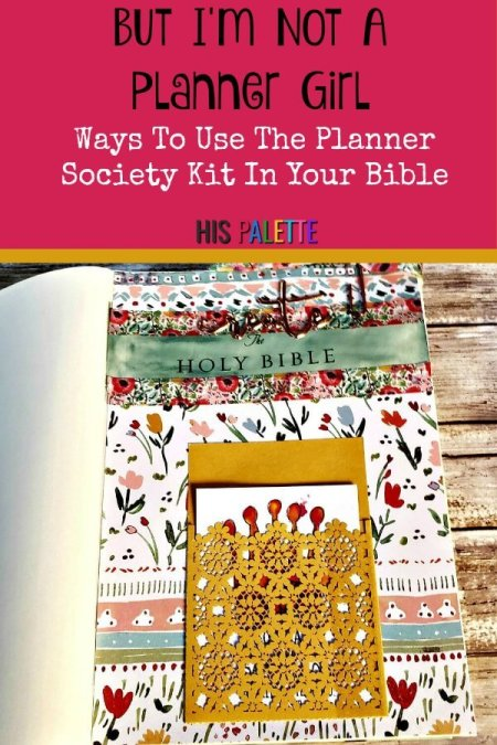 Planner girls and Bible journalists unite! Learn about exclusive planner products you can use in your Bible. #hispalette #biblejournaling #illustratedfaith #theplannersociety #uniquebiblejournaling #god #products #life #planner #paper