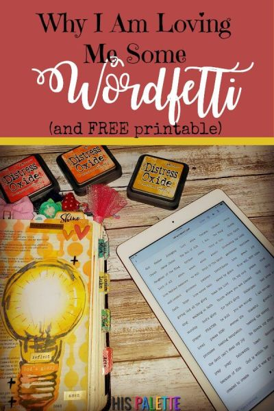 Let us show you how to use and make your own wordfetti, for Bible journaling and creative notes. Plus, don't forget our free wordfetti printable. #hispalette #biblejournaling #illustratedfaith #wordfetti #freeprintables #freeprintable #stickers #sticker #words