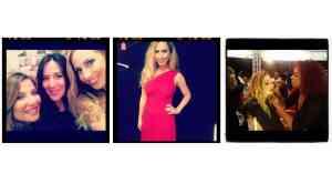 Jeannette Kaplun, Susan Stipcianos y Giuli en Miami Red Dress