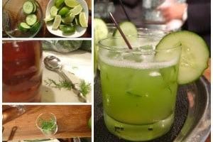 Refrescante limonada con pepino y eneldo