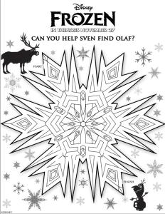 frozen maze olaf y sven