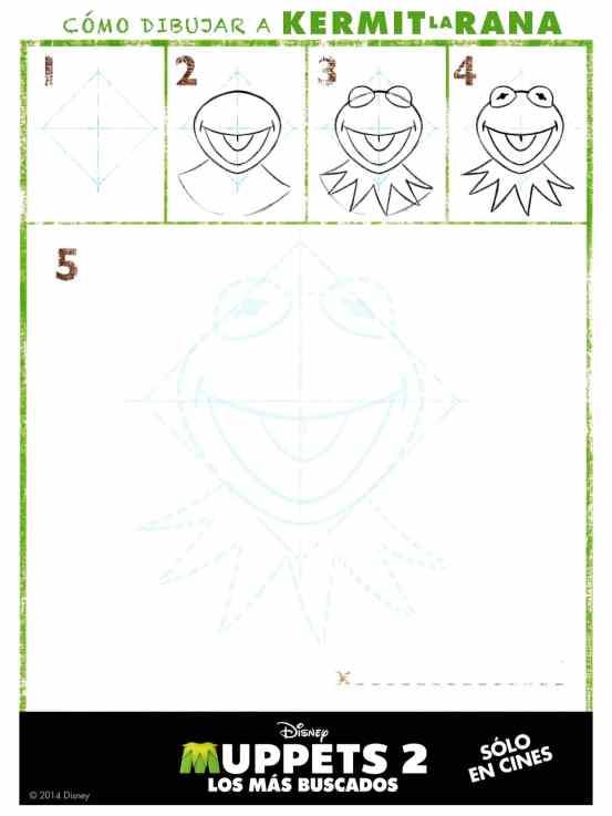 Cómo dibujar Kermit Rana René de los Muppets