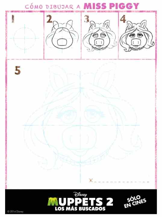 Cómo dibujar Miss Piggy de los Muppets