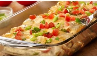 Receta: Enchiladas de pollo con queso en pocos minutos