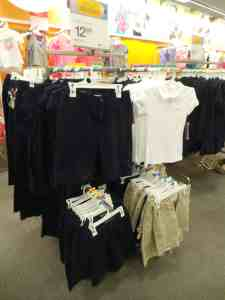 Uniformes escolares en Target
