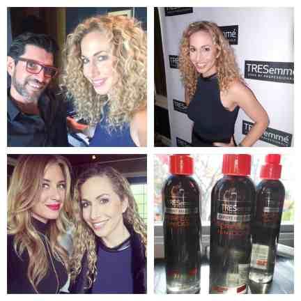 Collage evento Tresemme con Marco peña y Mariela Bagnato