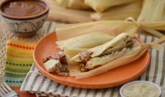 Receta: tamales de carne de res con mole