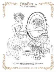 Dibujos gratis para colorear de La Cenicienta o Cinderella