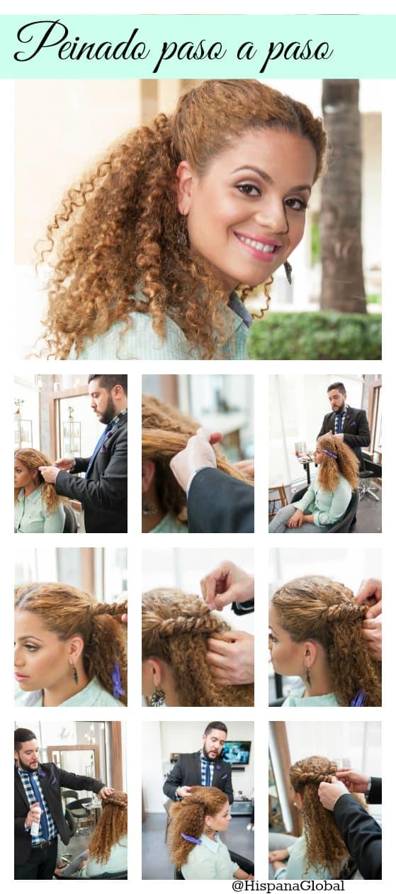 Peinado paso a paso para cabello rizado