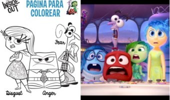 Colorea con tu hijo estas figuras de Inside Out o InmensaMente