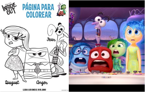 Dibujos para colorear Inside Out