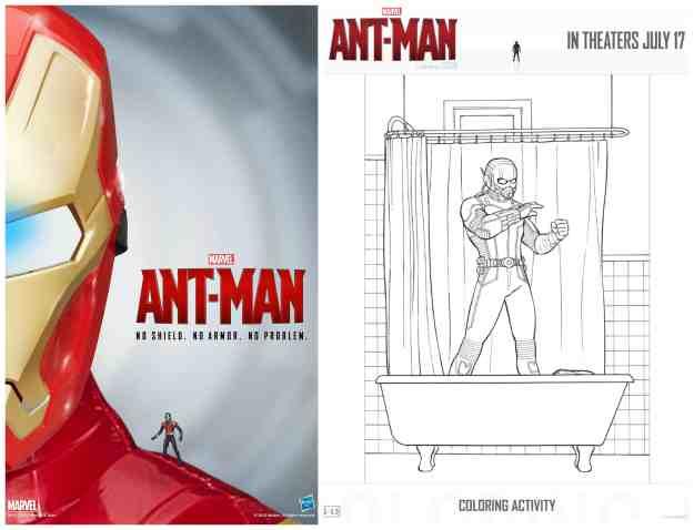 Ant-Man el hombre hormiga figuras para colorear