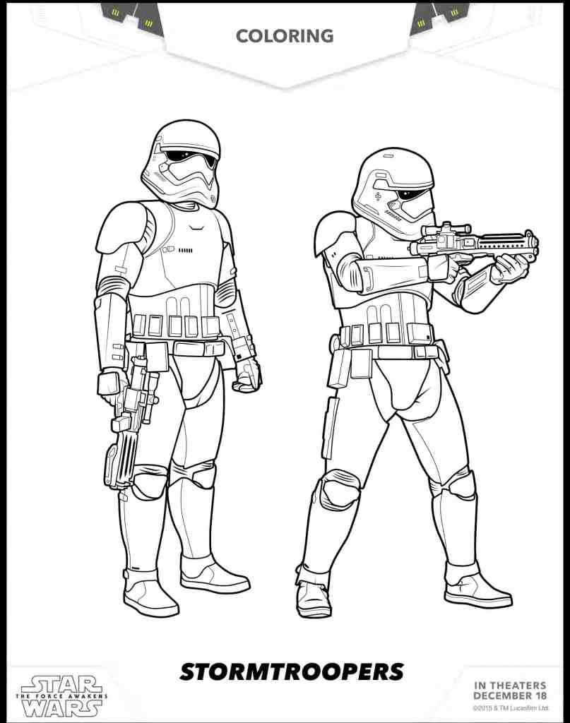 Stormtroopers dibujos gratis para colorear de Star wars