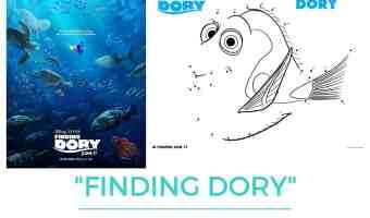 Juegos de unir los puntos de Finding Dory o Buscando a Dory