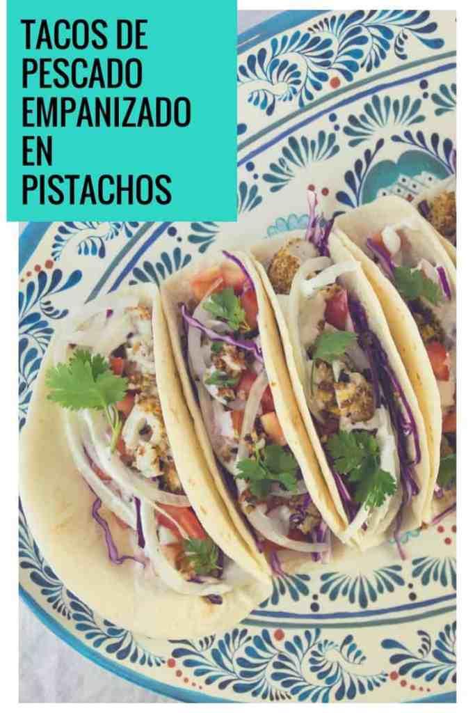Receta de tacos de pescado con pistachos