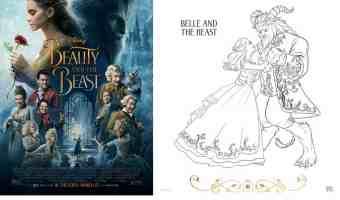 Hermosos dibujos para colorear de Bella y la Bestia