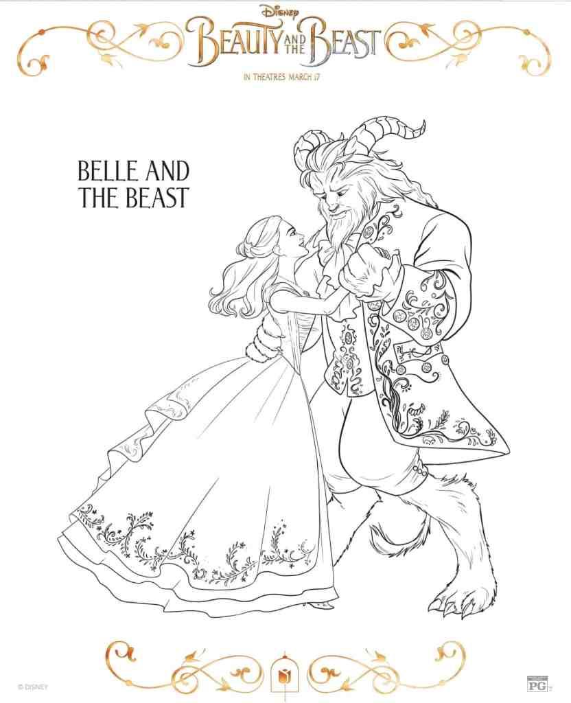 Hermosos dibujos para colorear de Bella y la Bestia  Hispana Global