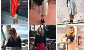 5 maneras de usar una falda midi plisada