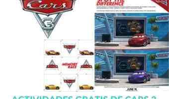 Actividades gratis para niños de Cars 3 que puedes imprimir en casa