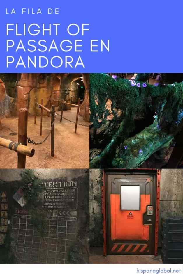 Fila de Flight of Passage en Pandora THE WORLD OF AVATAR Disney World via hispanaglobal.com