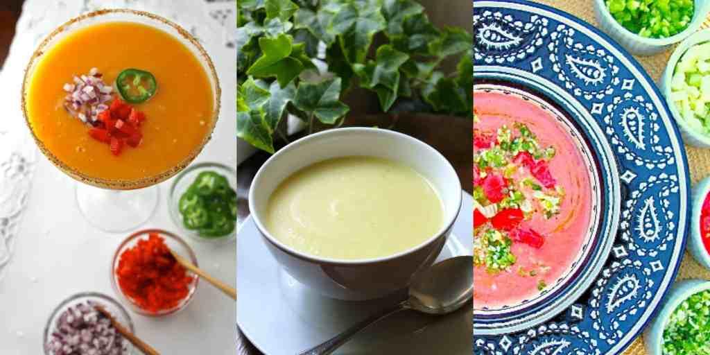 sopas, sopas de verano, sopas frías, gazpacho, gazpacho andaluz, sopa de yogurt y pepino, gazpacho de mango