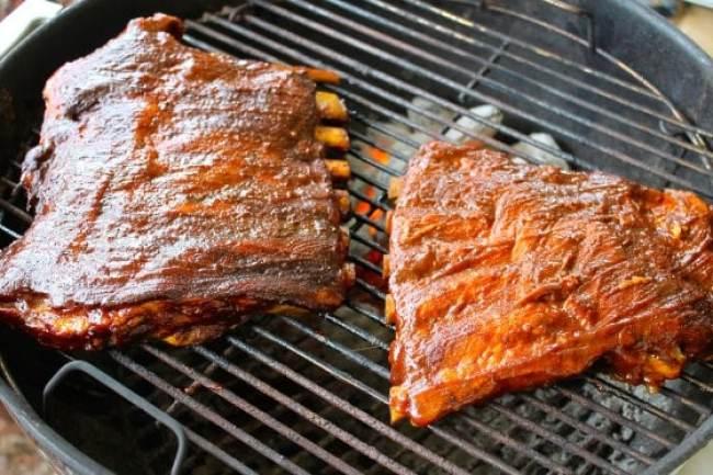 Cómo asar costillas a la BBQ, costillas, parrillada de costillas